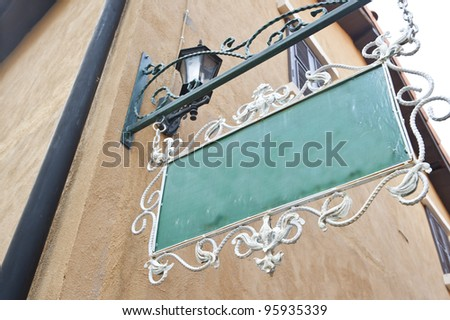 Banner shop sign vintage style - stock photo