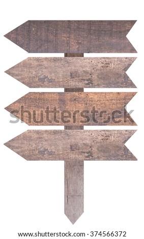 banner vintage wooden. - stock photo