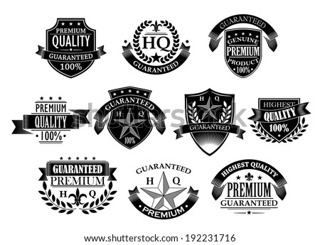 Banners and badges for retail logo design in retro style. Vector version also available in gallery - stock photo