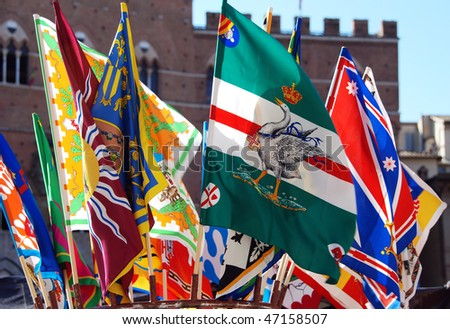 Banners of the Contrade - stock photo