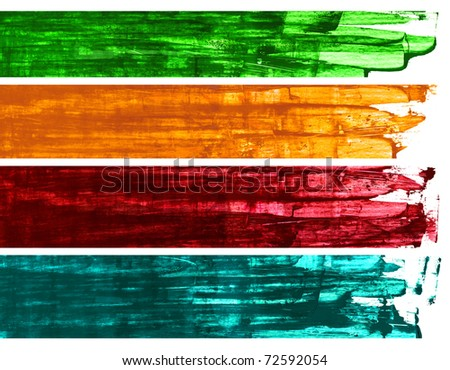 Banners. Painting style. - stock photo