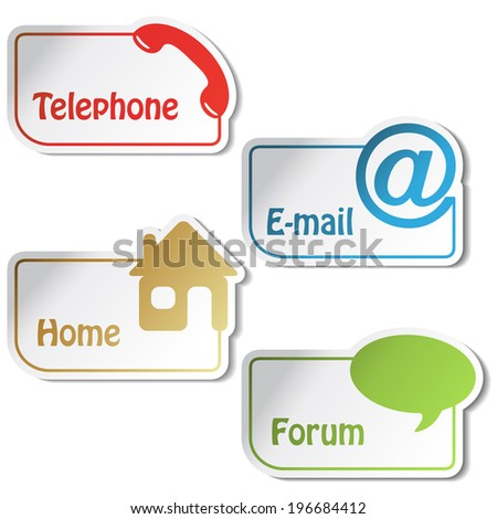 banners - phone, email, home, forum symbols, buttons
