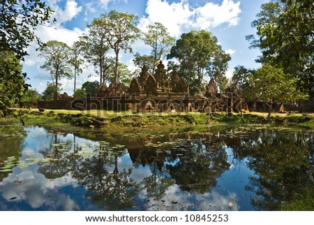 Banteai Srei temple, The temple of women, near Angkor wat, Cambodia. - stock photo