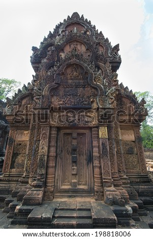 Banteay Srei Temple,part of the Angkor Wat complex, Siem Reap,Cambodia  - stock photo