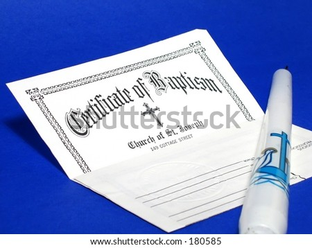 Baptism Certificate Stock Images, Royalty-Free Images & Vectors