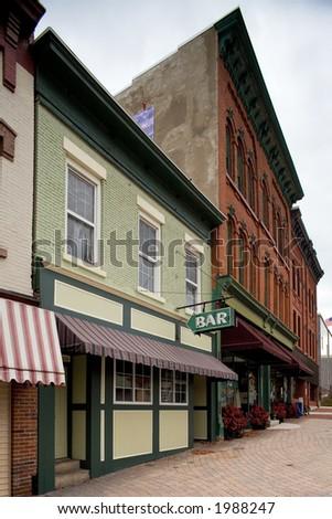 Bar and Sidewalk - stock photo