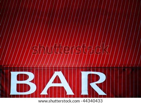 Bar awning background - stock photo