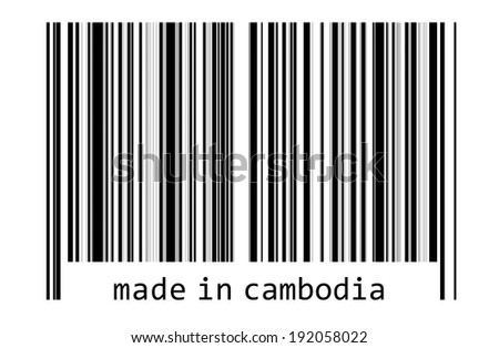 Bar code - made in cambodia