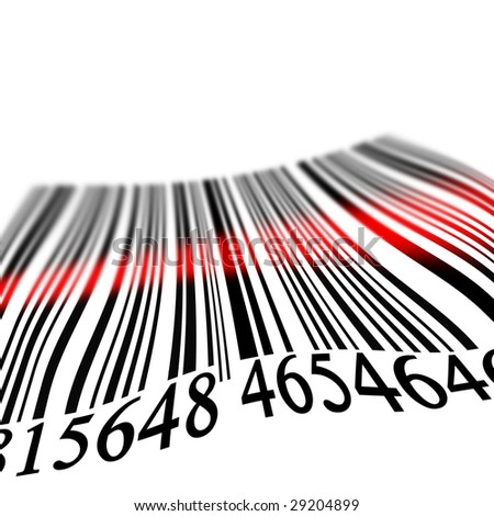 Bar code on a solid white background