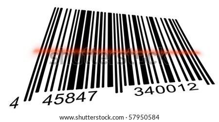 Bar code on a white background