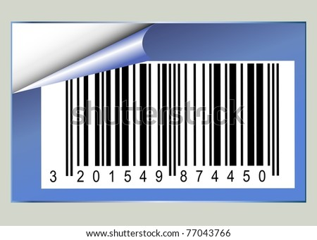 Bar code sticker with pealed corner
