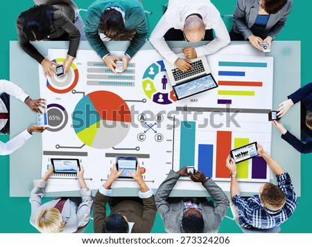 Bar Graph Chart Data Information Infographic Report Concept - stock photo