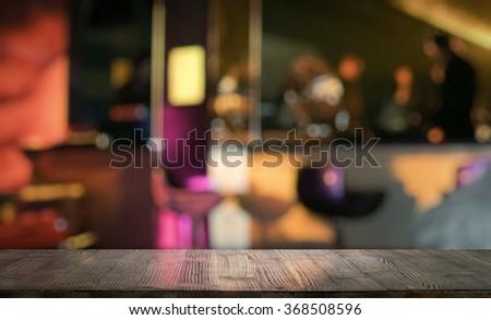bar in a night club - stock photo