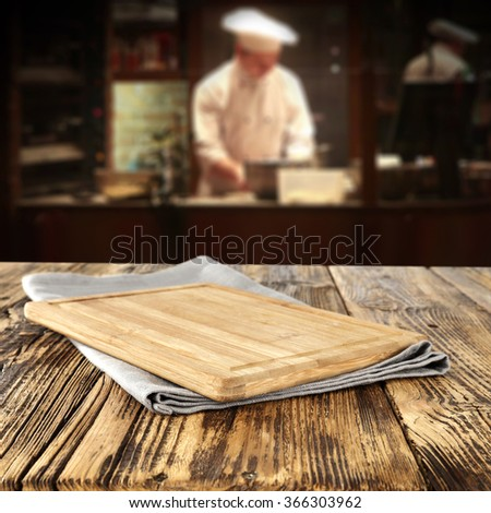 bar interior with chef of kitchen and pizza space  - stock photo