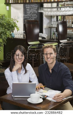 Bar Owners Working - stock photo