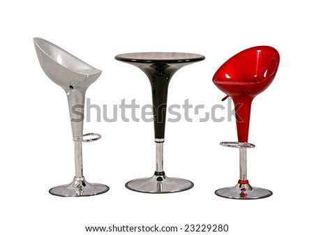 bar table and stool - stock photo
