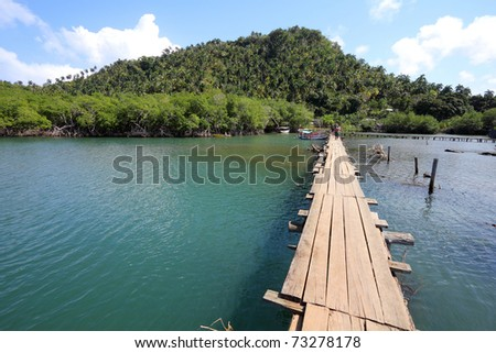 Baracoa, Cuba - Rio Miel bridge, part of Alejandro de Humboldt National Park