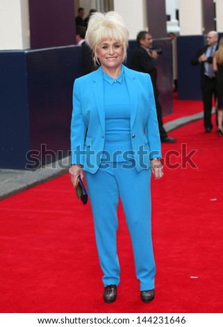 Barbara Windsor arriving for the Charlie And The Chocolate Factory Press Night, at Theatre Royal, London. 25/06/2013