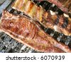 barbecue Argentine Style, pork ribs and asado - stock photo