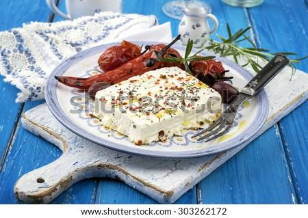 Barbecue Feta - stock photo