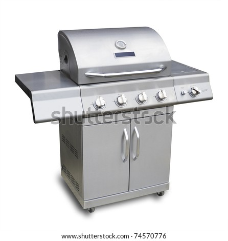 Big Barbecue Gas Grill Stainless Steel Stock Photo 76938817 Shutterstock