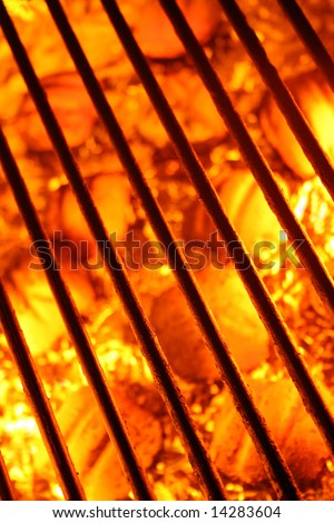 Barbecue grill background - stock photo