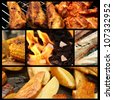 barbecue picture collage - stock photo