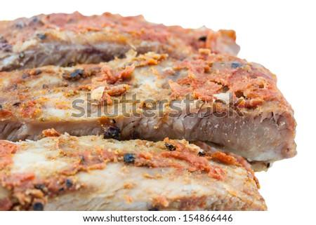 Barbecue pork rips. - stock photo