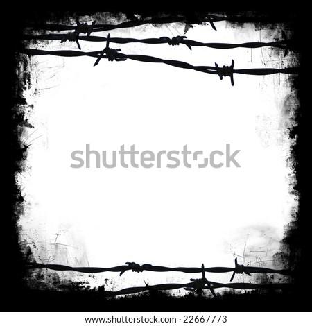 Barbed Wire Black Square Frame Border Stock Illustration 22667773 ...
