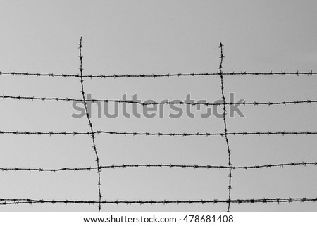 Barbed Wire Fence Concentration Camp Dating Stock Photo (Royalty ...