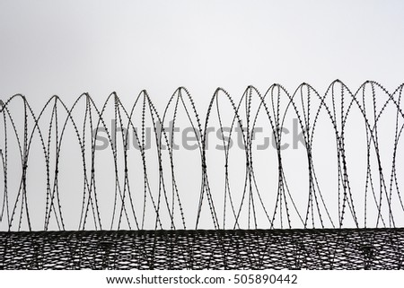 Barbed Wire Prison Wall Germany Stock Photo 505890442 - Shutterstock