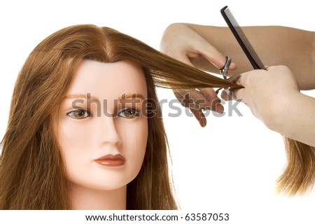 Barber student accessory - stock photo