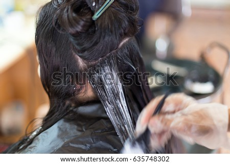 Barber Supplies Applying Color Cream Hair Stock Photo (Royalty Free ...