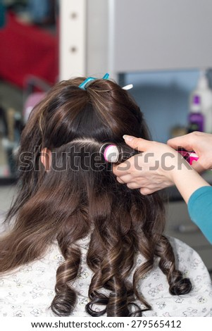 Barber work in a beauty salon