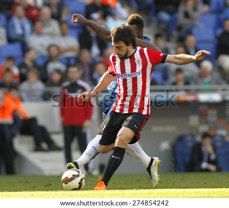 BARCELONA - APRIL, 12: Benat Etxebarria of Athletic Club Bilbao during a Spanish League match against RCD Espanyol at the Power8 Stadium on April 12 2015 in Barcelona Spain - stock photo