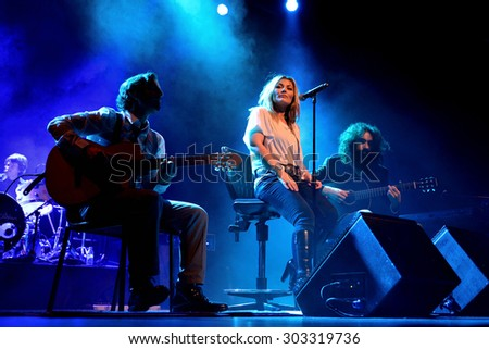 BARCELONA - FEB 28: Amaia Montero (artist) in concert at Barts Stage on February 28, 2015 in Barcelona, Spain. - stock photo