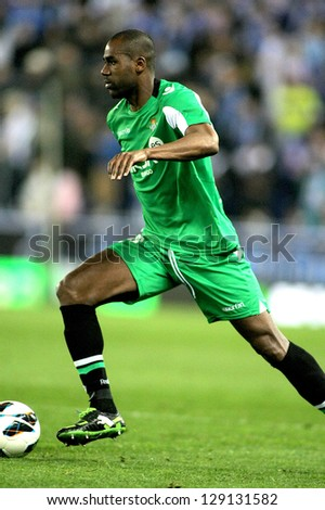 BARCELONA - FEB, 17: Paulao of Betis during the Spanish League match between Espanyol and Betis at the Estadi Cornella on February 17, 2013 in Barcelona, Spain - stock photo