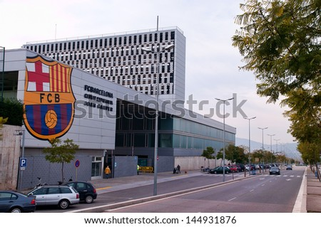 BARCELONA - JAN 31: Ciutat Esportiva Joan Gamper on January 31, 2010 in Sant Joan Despi, Barcelona, Spain. Is the training ground and academy base of Catalan football club, FC Barcelona. - stock photo