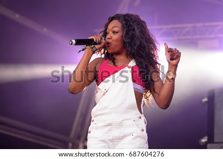 BARCELONA - JUN 16: Lady Leshurr (rapper, singer and producer) performs in concert at Sonar Festival on June 16, 2016 in Barcelona, Spain.