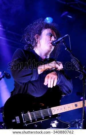 BARCELONA - JUN 1: The Cure (band) in concert at San Miguel Primavera Sound Festival on June 1, 2012 in Barcelona, Spain.