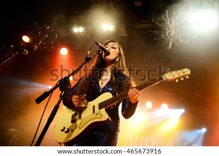 BARCELONA - MAR 7: Kitty, Daisy and Lewis (R&B, swing, blues, country and rockabilly band) in concert at Bikini stage on March 7, 2015 in Barcelona, Spain.