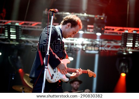 BARCELONA - MAY 27: Albert Hammond Jr. (rock musician) performs at Primavera Sound 2015 Festival, ATP stage, on May 27, 2015 in Barcelona, Spain. - stock photo