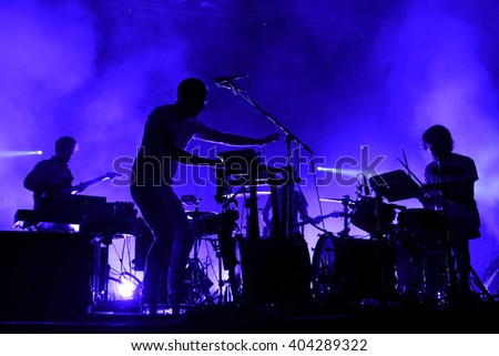 BARCELONA - MAY 30: Caribou (electronic music band) live performance at Primavera Sound 2015 Festival on May 30, 2015 in Barcelona, Spain.