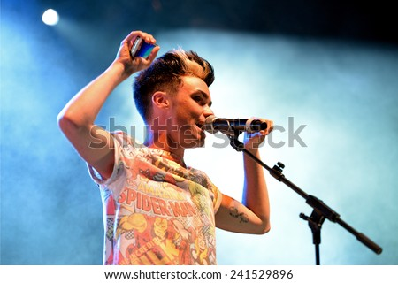 BARCELONA - MAY 23: Mario Jefferson (band) at Primavera Pop Festival by Los 40 Principales on May 23, 2014 in Barcelona, Spain. - stock photo