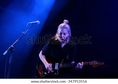 BARCELONA - MAY 30: Torres (the band of the musician Mackenzie Scott) performs at Primavera Sound 2015 Festival on May 30, 2015 in Barcelona, Spain.