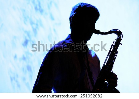 BARCELONA - NOV 26: Saxophone player of Oreka TX (band) perfoms at Centre Artesa Tradicionarius stage on November 26, 2010 in Barcelona, Spain. - stock photo
