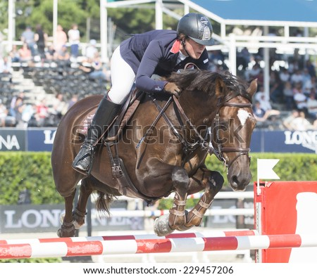 BARCELONA - OCTOBER 09: Jamie Kermond rider in action during the CSIO Coca-Cola Trophy in Real Club Polo Barcelona, on October 09, 2014, Barcelona, Spain.