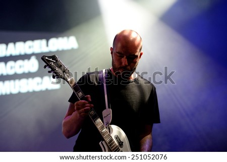 BARCELONA - SEP 21: Lanterns on the Lake (indie rock band) peforms at BAM La Merce Festival on September 21, 2014 in Barcelona, Spain. - stock photo