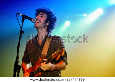 BARCELONA - SEP 17: Polock performs at Discotheque Razzmatazz on September 17, 2010 in Barcelona, Spain. - stock photo