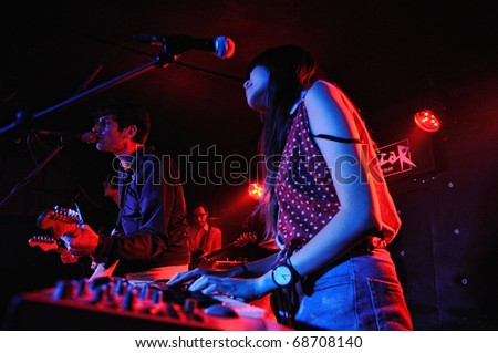 BARCELONA, SPAIN - AUG 15: The Paing of Being Pure at Heart performs at Discotheque Sidecar on August 15, 2010 in Barcelona, Spain.